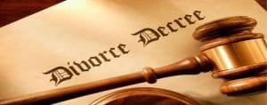 Divorce Decree and Legal Gavel