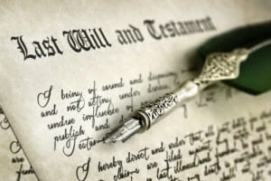 Will and testament documents