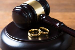 Wedding ring and gavel