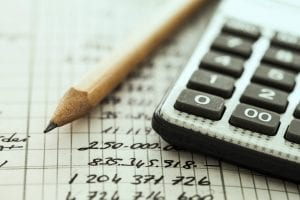 calculator and ledger