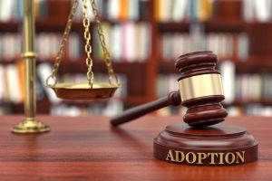 Adoption and court gavel
