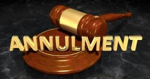 Annulment with gavel
