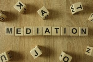 Mediation written on blocks