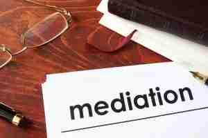mediation written on paper