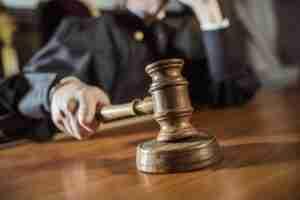 Judge slamming gavel
