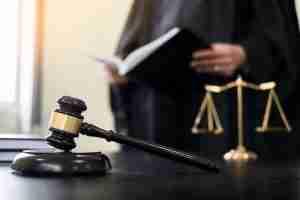 gavel on judge's bench