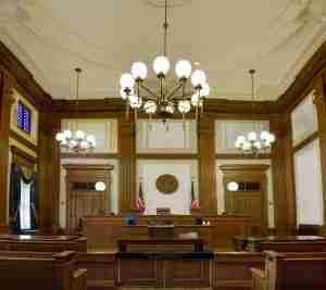A federal courtoom